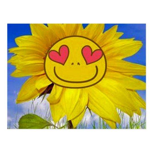 Loving,happy,sunflower,colourful,flower,animated Postcard
