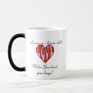 Loving Heart Lefty/Color Changer... 11 Oz Magic Heat Color-Changing Coffee Mug