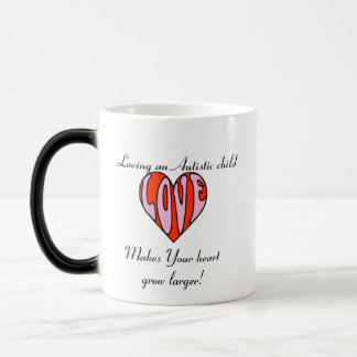 Loving Heart Lefty/Color Changer... 11 Oz Magic Heat Color-Changing Coffee Mug