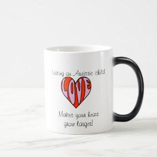 Loving Heart (Right Hander/Color Changing Mug) 11 Oz Magic Heat Color-Changing Coffee Mug