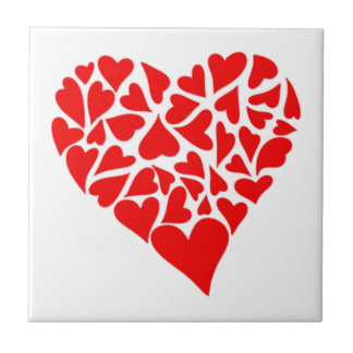 Loving Hearts Ceramic Tile