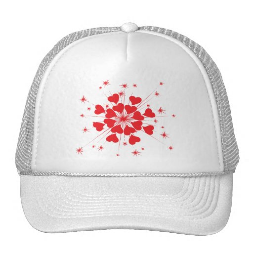 loving hearts trucker hats