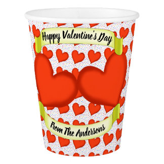 Loving Hearts Paper Cups