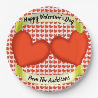 Loving Hearts Paper Plates