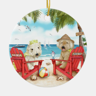 Loving Key West Round Ceramic Ornament