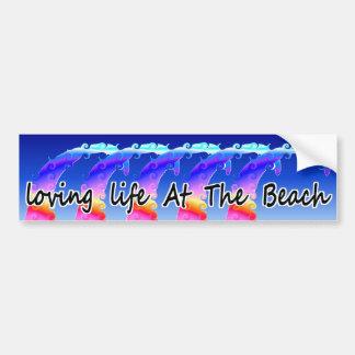 Loving Life At The Beach Bumper Sticker