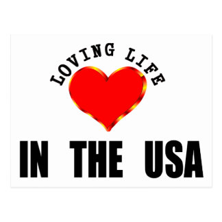 Loving Life In The USA Postcard