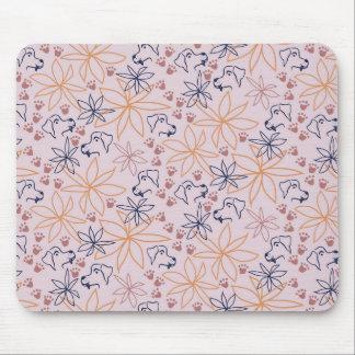 Loving Lines - Pawprint Trails II Mouse Pad