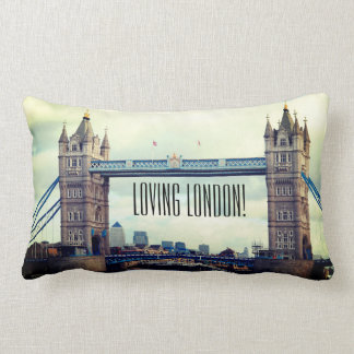 Loving London, throw pillow. Lumbar Pillow