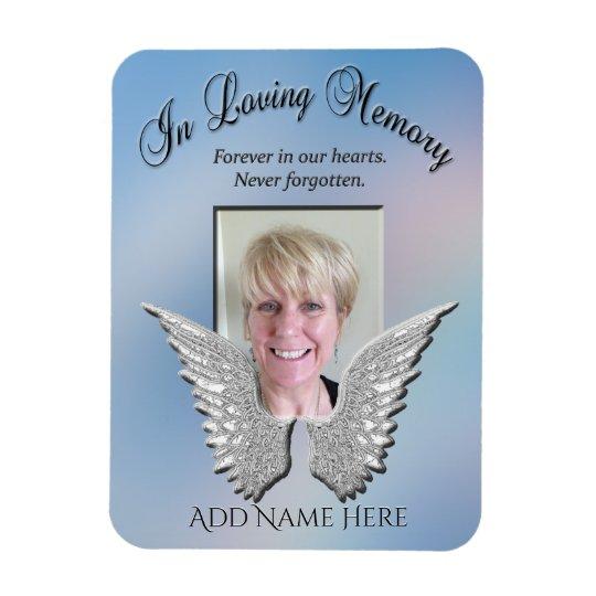 Loving Memory Memorial Rectangular Photo Magnet