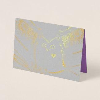 """""""Loving Owl"""" Blank Gold Foil Card w/Envelope"""