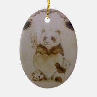 Loving Panda Ceramic Ornament