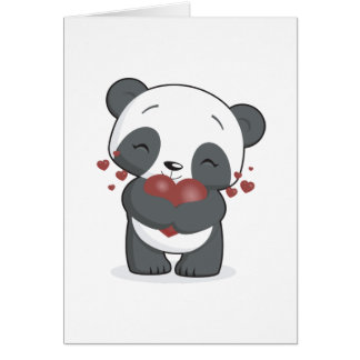 Loving Panda Greeting Card
