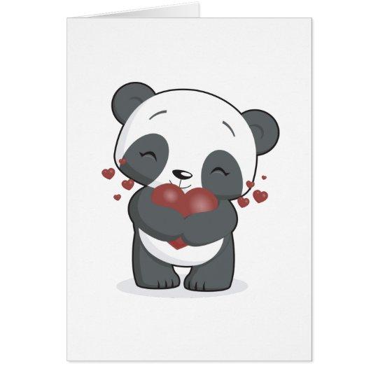 Loving Panda Greeting Card