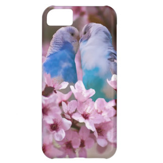 Loving Parakeets and Pink Flowers Case For iPhone 5C