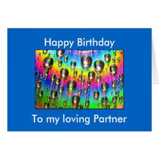 Loving Partner Birthday Card