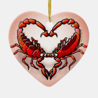 Loving Scorpions Ceramic Ornament