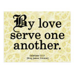 Loving Service Galatians 5-13 Post Cards