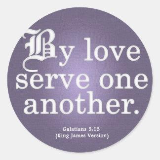 Loving Service Galatians 5-13 Sticker
