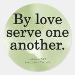 Loving Service Galatians 5-13 Stickers