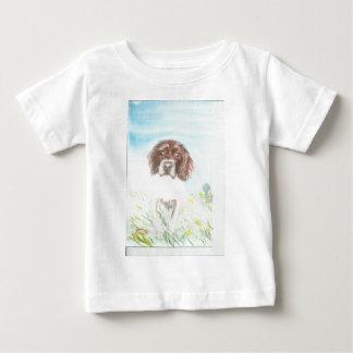 loving spaniel watercolour baby T-Shirt