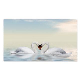 Loving swans Double-Sided standard business cards (Pack of 100)