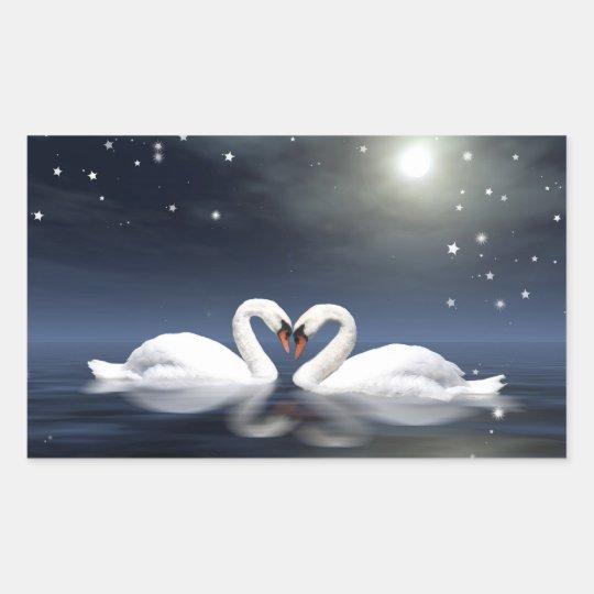 Loving swans sticker