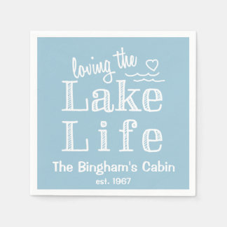 Loving the Lake Life Customized Paper Napkin
