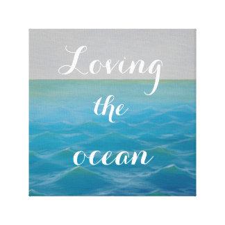 Loving the ocean SURF KIND Canvas Print