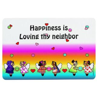 Loving Thy Neighbor Floor Mat