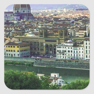 Loving Tuscany! Photo Print Square Sticker