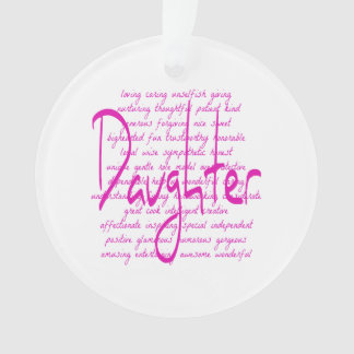 Loving Words for Daughter Ornament