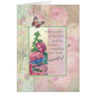Loving Words for Mom Hummingbird Botanical Card
