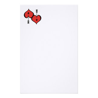 """Loving You Heart red 5.5"""" x 8.5"""" Stationery"""