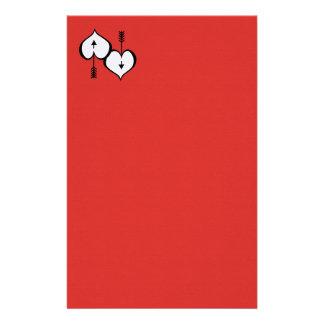 "Loving You Heart white 5.5"" x 8.5"" Stationery"