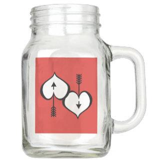 Loving You Heart white Mason Jar