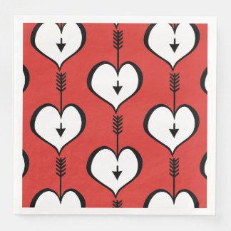 Loving You Heart white Paper Napkins