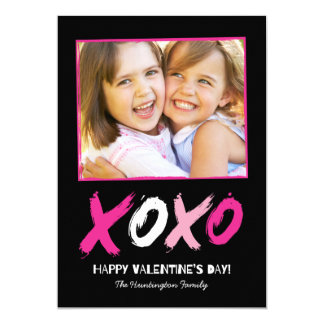 "Lovingly Brushed Valentine's Day Photo Cards 5"" X 7"" Invitation Card"