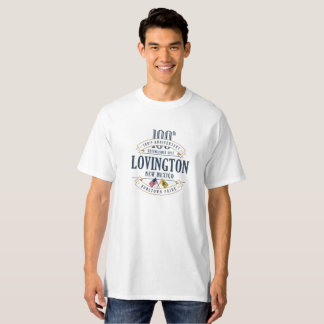 Lovington, New Mexico 100th Anniv. White T-Shirt