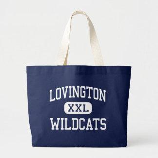 Lovington - Wildcats - High - Lovington New Mexico Large Tote Bag