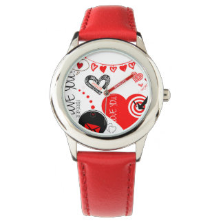 Lovito Stainless Steel Red Watch