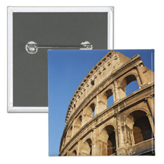 Low angle view of Colosseum 2 Inch Square Button