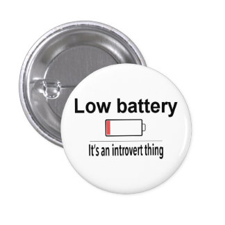 Low Battery 1 Inch Round Button