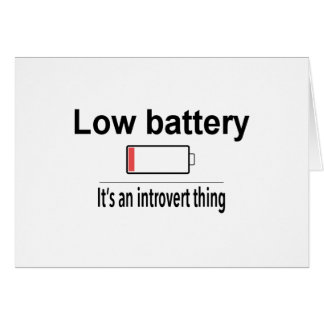 Low Battery Card