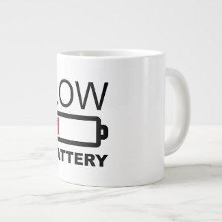 LOW BATTREY LARGE COFFEE MUG