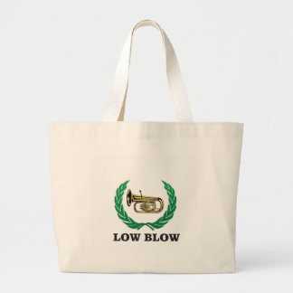low blow tuba large tote bag