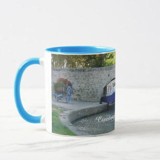 Low canal bridge, France Mug