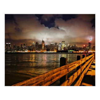 Low Clouds Over Manhattan Poster
