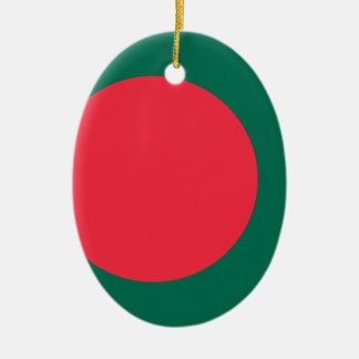 Low Cost Bangladesh Flag Ceramic Ornament