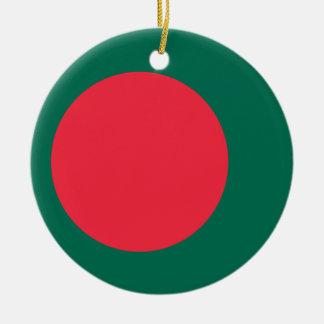 Low Cost! Bangladesh Flag Ceramic Ornament